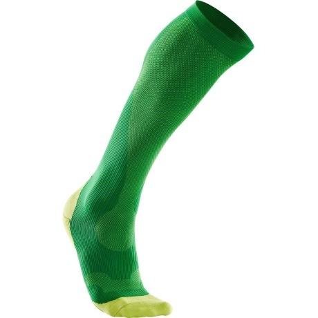 2XU Mens Compression Performance  Run Sock FernGreenLimeGreen