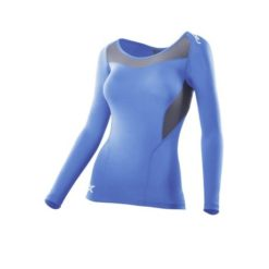2XU Womens Compression LS Top blue grey 1