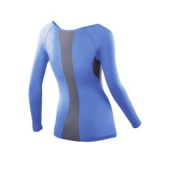 2XU Womens Compression LS Top blue grey 2