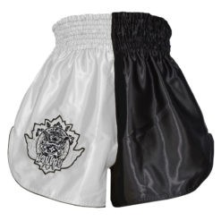 Blitz Thaiboxningsshorts Kids svart vit 2