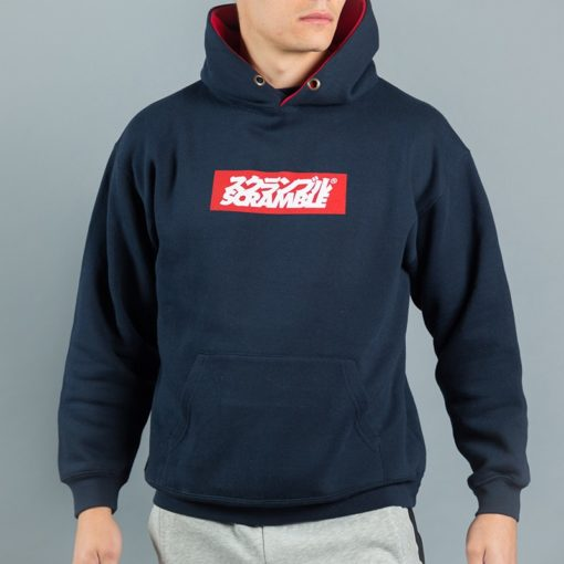 Box Logo Hoody Navy 3