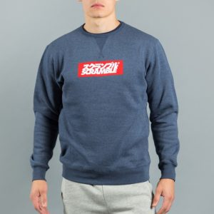 Box Logo Sweater Navy Melange 1