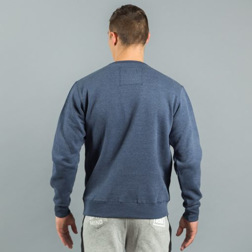 Box Logo Sweater Navy Melange 3