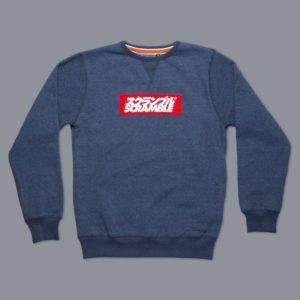 Box Logo Sweater Navy Melange 5