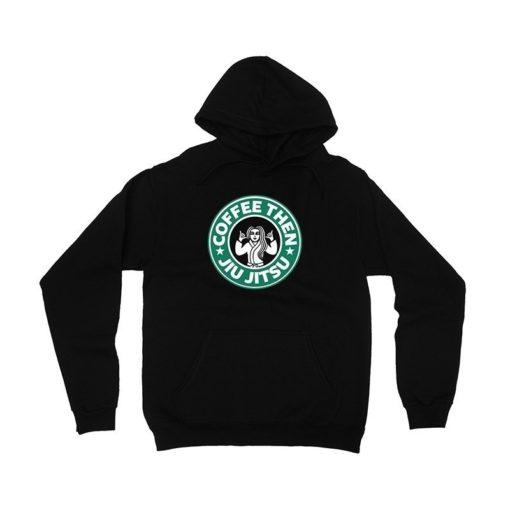 Choke Republic Hoodie Coffee svart