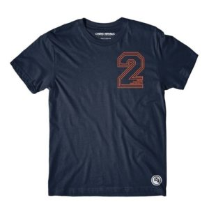 Choke Republic T shirt 2 point navy 1