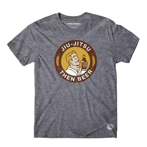 Choke Republic T shirt Jiu Jitsu Then Beer
