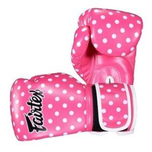 Fairtex Boxningshandskar BGV14 rosa vit 1