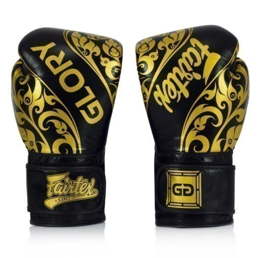 Fairtex Boxningshandskar Glory Limited Edition svart guld 1