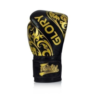 Fairtex Boxningshandskar Glory Limited Edition svart guld 4