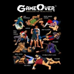 GAMEOVER SUBMISSIONS JIU JITSU BJJ SHIRT TEE NEWAZA APPAREL