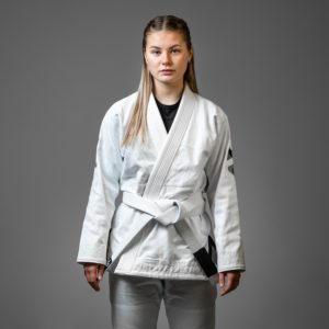Hyperfly BJJ Gi Ladies Hyperlyte 2.0 vit svart 1