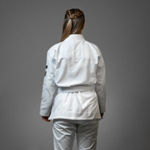 Hyperfly BJJ Gi Ladies Hyperlyte 2.0 vit svart 2