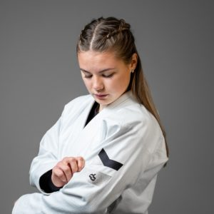 Hyperfly BJJ Gi Ladies Hyperlyte 2.0 vit svart 3