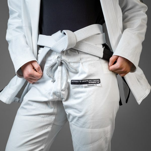 Hyperfly BJJ Gi Ladies Hyperlyte 2.0 vit svart 4