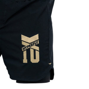 Hyperfly Grappling Shorts Icon black gold 7