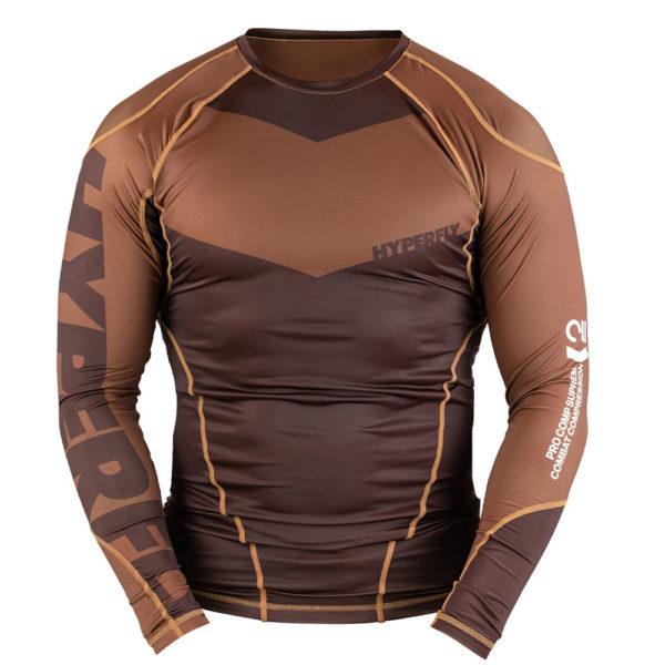 Hyperfly Rashguard ProComp Supreme Long Sleeve brown 1