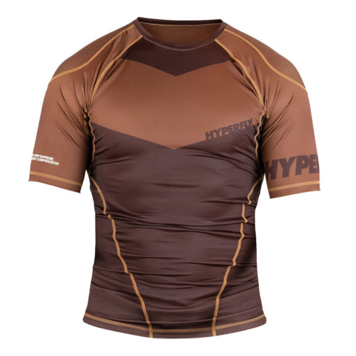 Hyperfly Rashguard ProComp Supreme Short Sleeve brown 1
