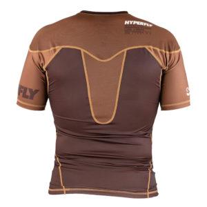 Hyperfly Rashguard ProComp Supreme Short Sleeve brown 4