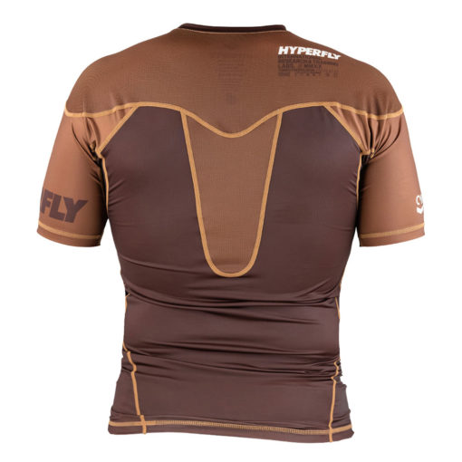 Hyperfly Rashguard ProComp Supreme Short Sleeve brown 4