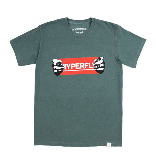 Hyperfly T shirts Hands teal 1