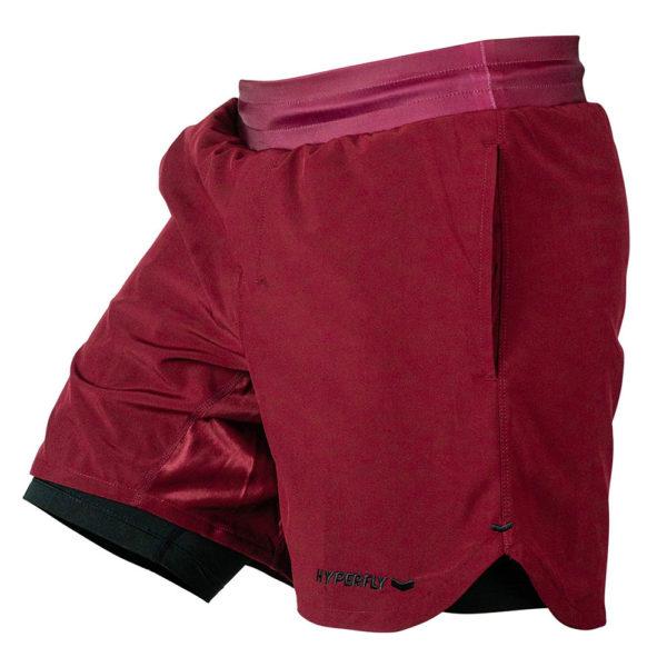 Hyperfly Training Shorts Icon burgundy 1