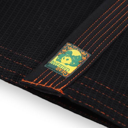 Inverted Gear BJJ Gi Gold Weave svart 6