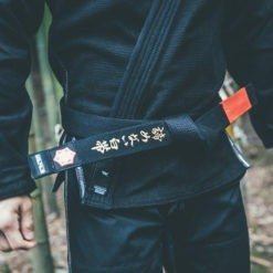 Kanji BJJ Balte Premium Embroidered svart 4