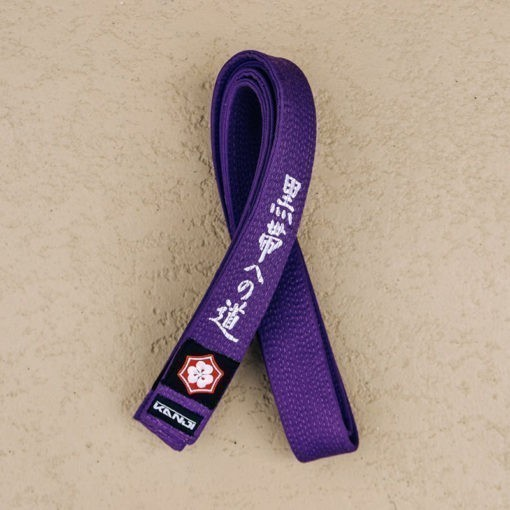 Kanji BJJ Balte Premium Embroidered lila 1