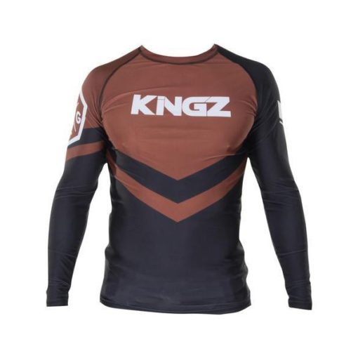 Kingz Rashguard Ranked Long Sleeve brun 1