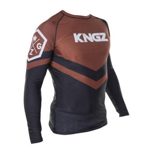 Kingz Rashguard Ranked Long Sleeve brun 2