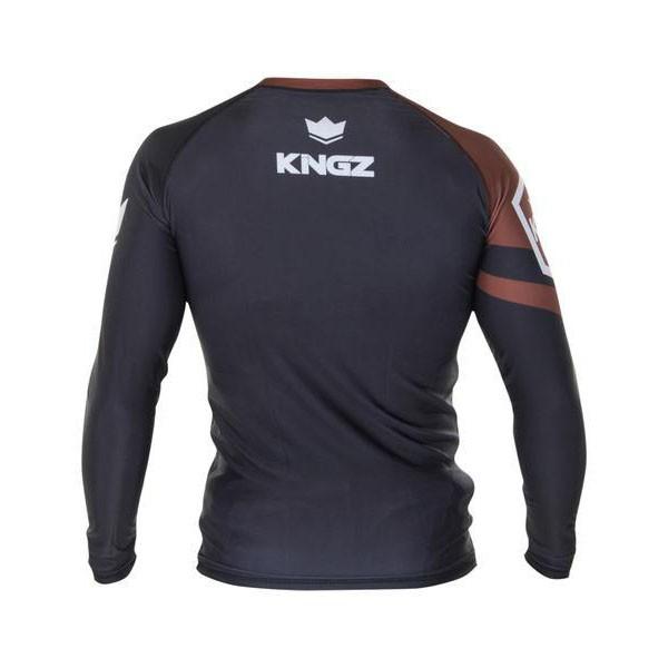 Kingz Rashguard Ranked Long Sleeve brun 4