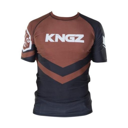 Kingz Rashguard Ranked Short Sleeve brun 1