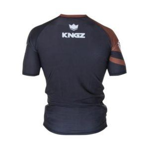 Kingz Rashguard Ranked Short Sleeve brun 2
