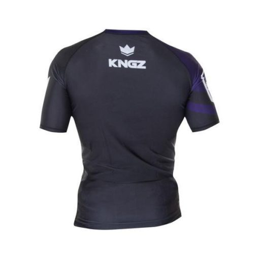 Kingz Rashguard Ranked Short Sleeve lila 2