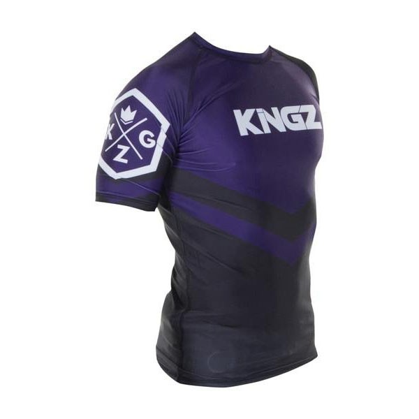 Kingz Rashguard Ranked Short Sleeve lila 4