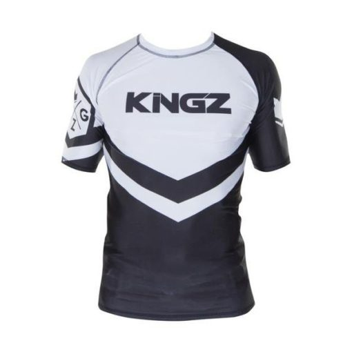 Kingz Rashguard Ranked Short Sleeve vit 1