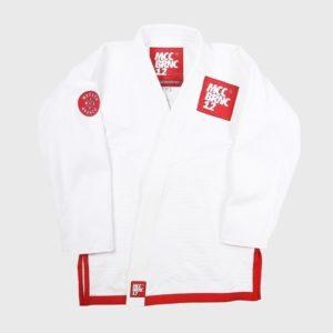 Macaco Branco BJJ Gi Competitor vit rod 1