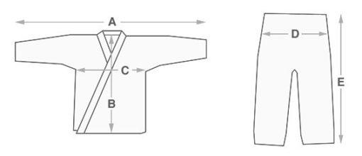 Macaco-Branco-BJJ-Gi-Evolution-size-chart