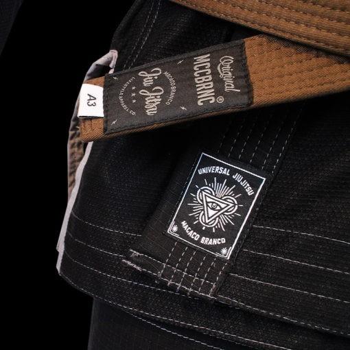Macaco Branco BJJ Gi Limited Edition UJJ X MCB svart 3