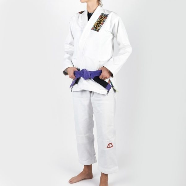 Manto BJJ Gi Ladies Floral vit 1
