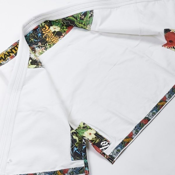 Manto BJJ Gi Ladies Floral vit 4