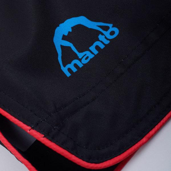 Manto Shorts Stripe 2.0 black red 4