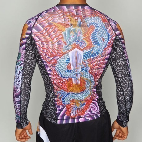 Manto Rashguard Long Sleeve Krazy Bee black 2