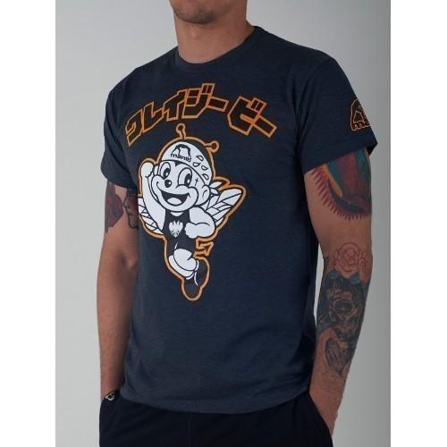 Manto x Krazy Bee T shirt Hacchi Kun  graphite 1