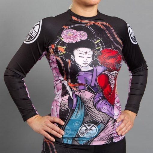 Meerkatsu Ladies Rashguard Divine Bow and Arrow 1