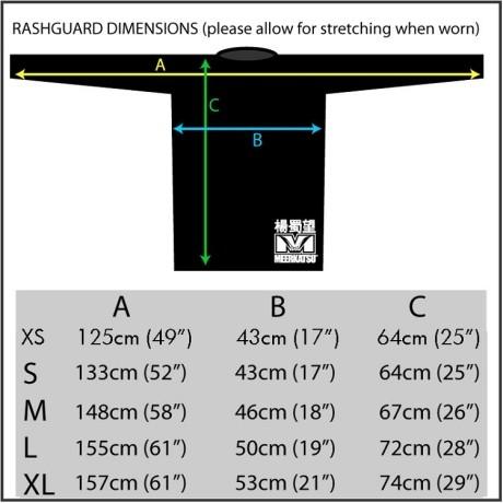 Meerkatsu-Rashguard-Heavenly-Wristlock-size