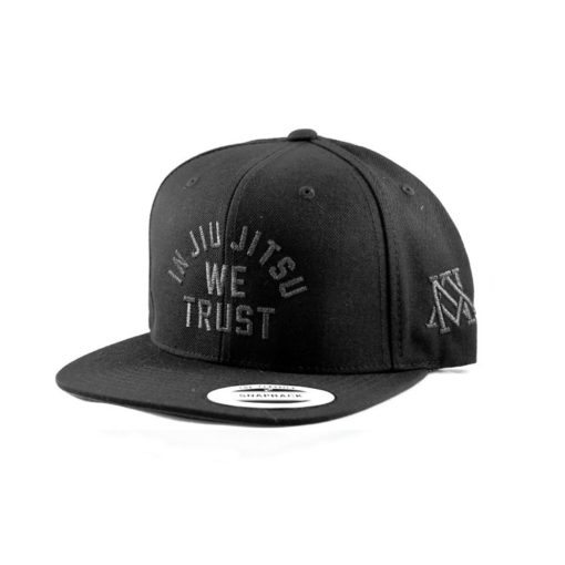 Newaza Cap In Jiu Jitsu We Trust Black on Black