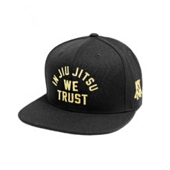 Newaza Cap In Jiu Jitsu We Trust gold on Black