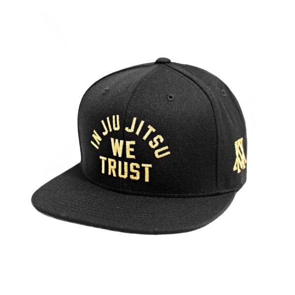 Newaza Cap In Jiu Jitsu We Trust gold on Black